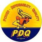 P. D. Q. CALIFORNIA HEAVY METAL SIGN