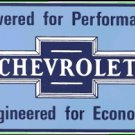 CHEVROLET POWERED PORCELAIN COATED SIGN