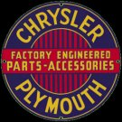 CHRYSLER PLYMOUTH PORCELAIN COATED SIGN