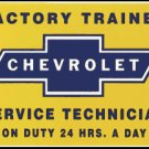 CHEVROLET SERVICE TECHNICIAN PORCELAIN COATED SIGN