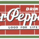 DR. PEPPER PORCELAIN COATED SIGN