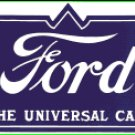 FORD UNIVERSAL PORCELAIN COATED SIGN