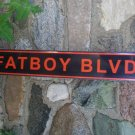 FATBOY BLVD TIN SIGN