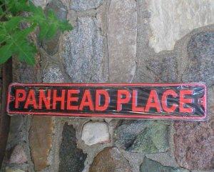 PANHEADPLACE TIN SIGN