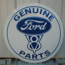 "GENUINE FORD V8 PARTS 24"" TIN SIGN"