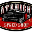 LATENITE SPEED SHOP HEAVY METAL OVAL SIGN
