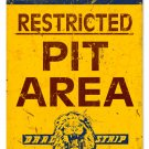 LIONS DRAG STRIP PIT AREA HEAVY METAL SIGN