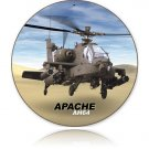 APACHE HELICOPTER HEAVY ROUND METAL SIGN