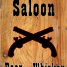 OLD TOWN SALOON DANCING GIRLS HEAVY METAL SIGN