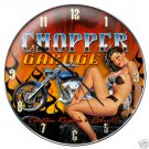 CHOPPER GARAGE CLOCK AUTO GARAGE SHOP