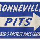 BONNEVILLE PITS RACE COURSE HEAVY METAL SIGN