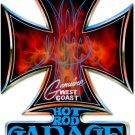 HOT ROD GARAGE IRON CROSS HEAVY METAL SIGN