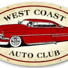 West Coast Auto Club Large Oval Metal Sign