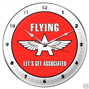 Flying A Gasoline metal clock AUTO GARAGE SHOP