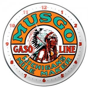 Musgo Gasoline metal clock AUTO GARAGE SHOP