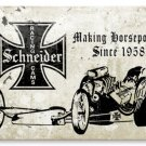 Schneider Racing Cams heavy metal sign auto garage
