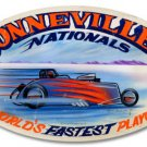 Bonneville Nationals large oval metal sign