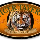 TIGER TAVERN large oval metal sign