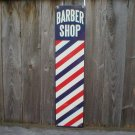 BARBER SHOP POLE SIGN HEAVY METAL