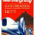 Nurburgring German racing HEAVY METAL SIGN 1936
