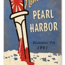 Remember Pearl Harbor Dec 7th HEAVY METAL SIGN OLD LOOK