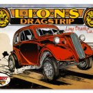 Lions Drag Strip Heavy Metal Sign