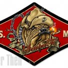 US Marines Diamond Shape Heavy Metal Sign