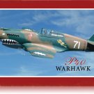 Flying Tigers Fighter Warhawk P-140 Heavy Metal Sign
