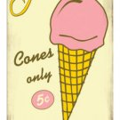 Ice Cream Five Cents HEAVY METAL DINER SIGN