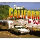Travel California 64 chevrolet Camping Trailer HEAVY METAL SIGN