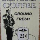 SENTRY COFFEE RETRO TIN SIGN