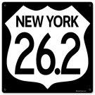 New York Marathon Highway heavy metal sign