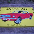 RED MUSTANG METAL SIGN