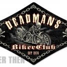 Deadmans Biker Club heavy metal sign