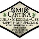Mi Cantina mexican bar diamond shaped metal sign