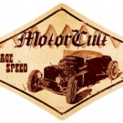 Motorcult Vintage Speed Heavy Metal Sign Hot Rod