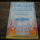 CAMARO PARKING ONLY TIN SIGN