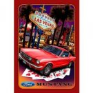 MUSTANG LAS VEGAS TIN SIGN