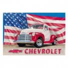 CHEVROLET '51 PICKUP TRIBUTE TIN SIGN