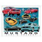 MUSTANG CHRONOLOGY TIN SIGN