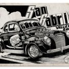 San Gabriel Valley Raceway Hotrod NHRA HEAVY METAL SIGN