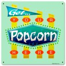 Get Your Popcorn Here theater sign HEAVY METAL SIGN