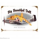P-51 Mustang Aircraft Big Beautiful Doll Sign
