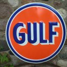 "Gulf Gas 24"" TIN SIGN blue orange"