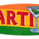Martinis oval metal drink sign