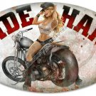 RIDE HARD Heavy Metal Motorcycle Sign