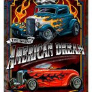 AMERICAN DREAM hot rod Heavy Metal Sign