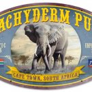 PACHYDERM PUB Heavy Oval Metal Sign