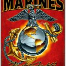 MARINES First to Fight Heavy Metal Red Sign