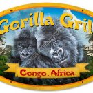 GORILLA GRILL Heavy Oval Metal Sign